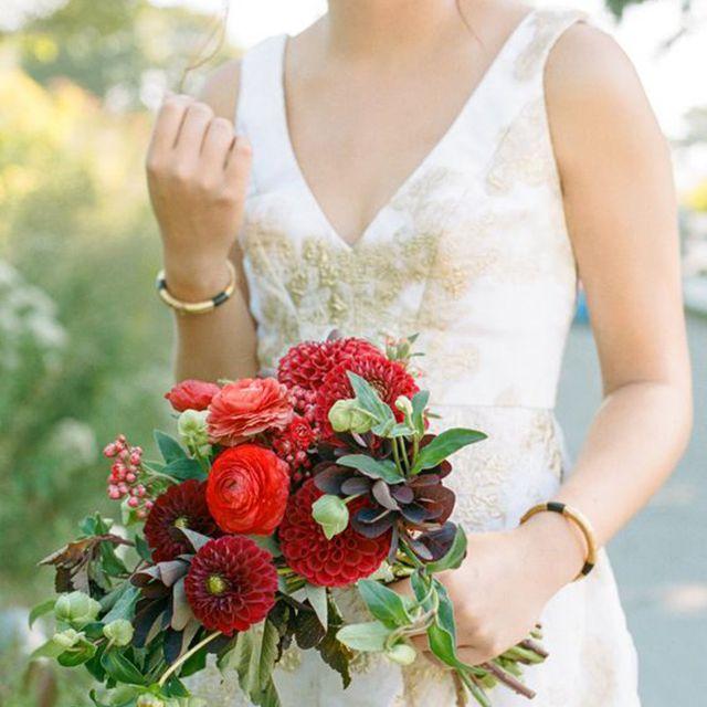 Zinnia Summer Wedding Bouquet