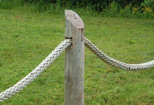Foto de la cuerda del barco, utilizada en esgrima. Otro material de esgrima de playa: la cuerda de un barco