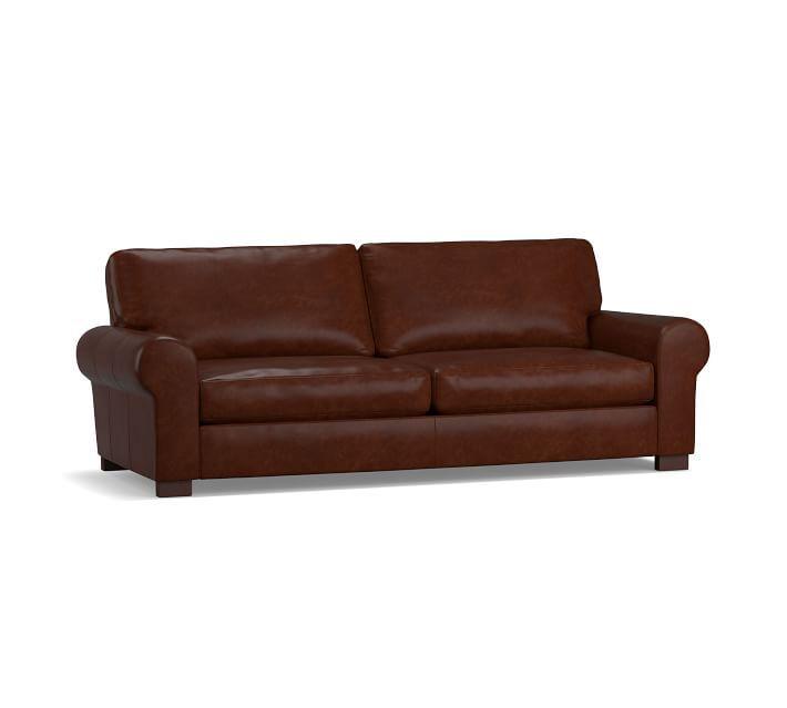 Turner Roll Arm Leather Sofa