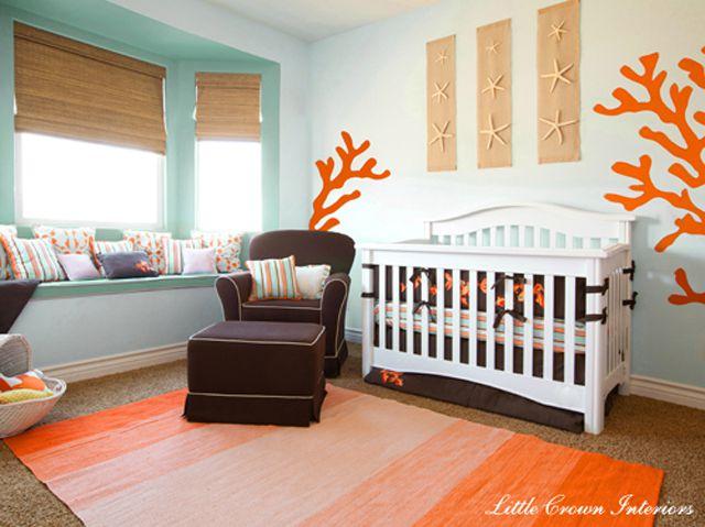 Orange and Aqua Beach Nursery