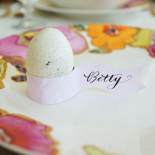 Egg Holder Place Cards