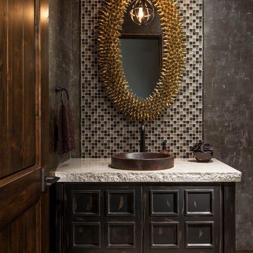 eclectic glam bathroom vanity