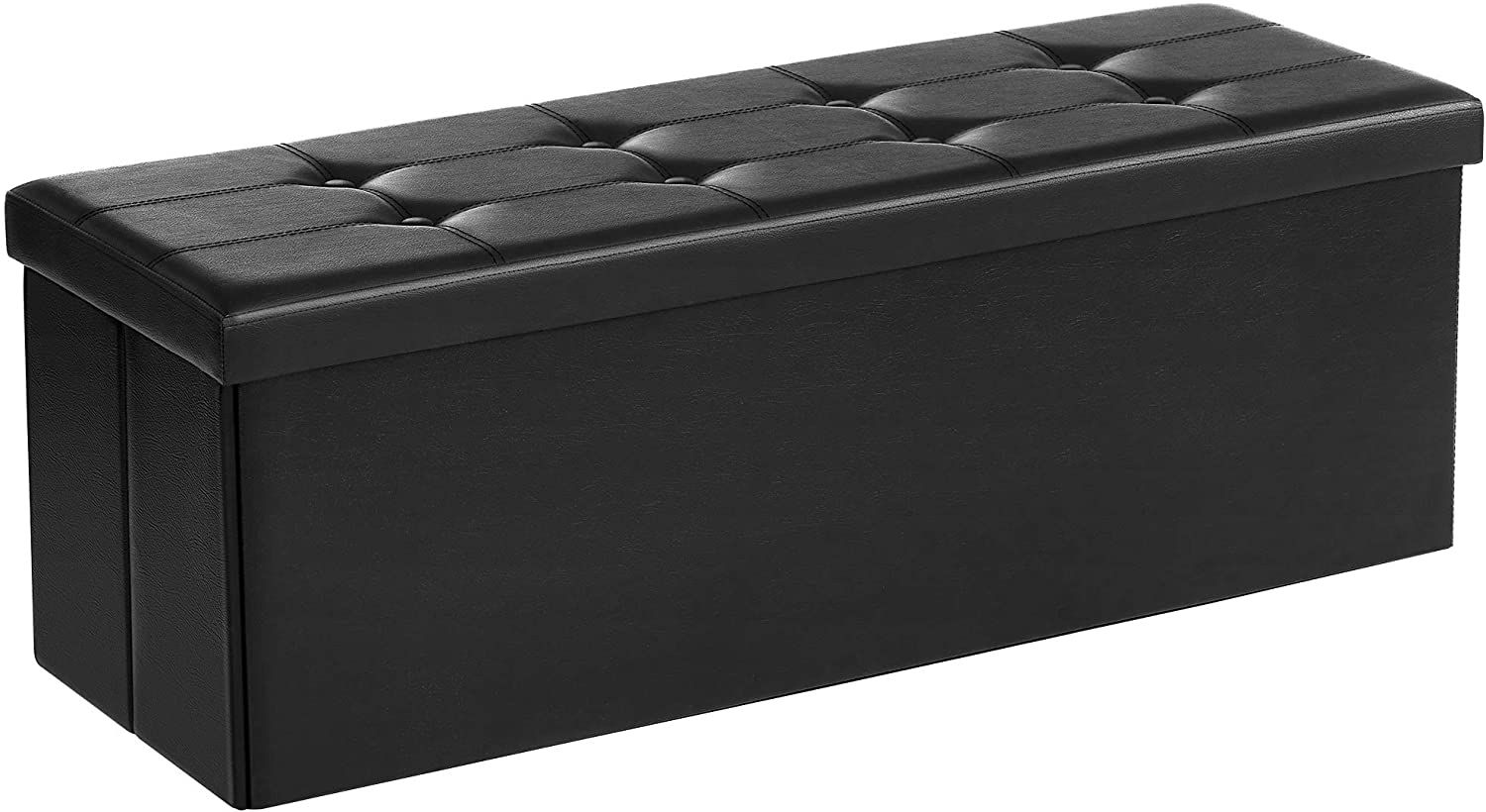SONGMICS Faux Leather Folding Bench
