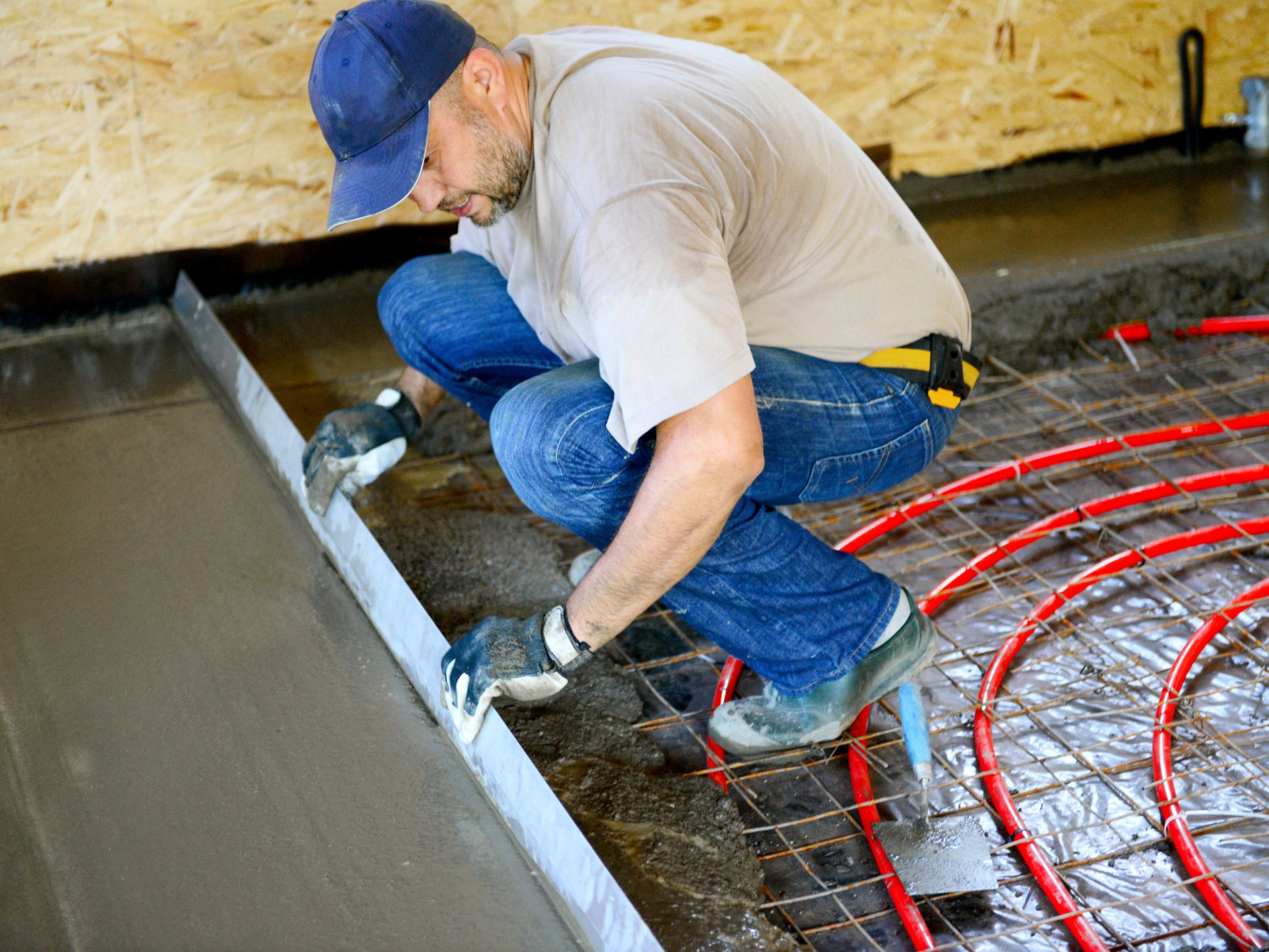 Screeding The Process Of Flattening And Smoothing Wet Concrete