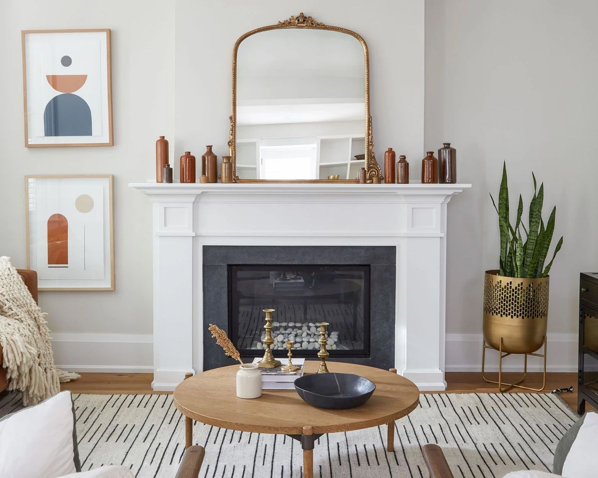 flat-woven rug in a living room