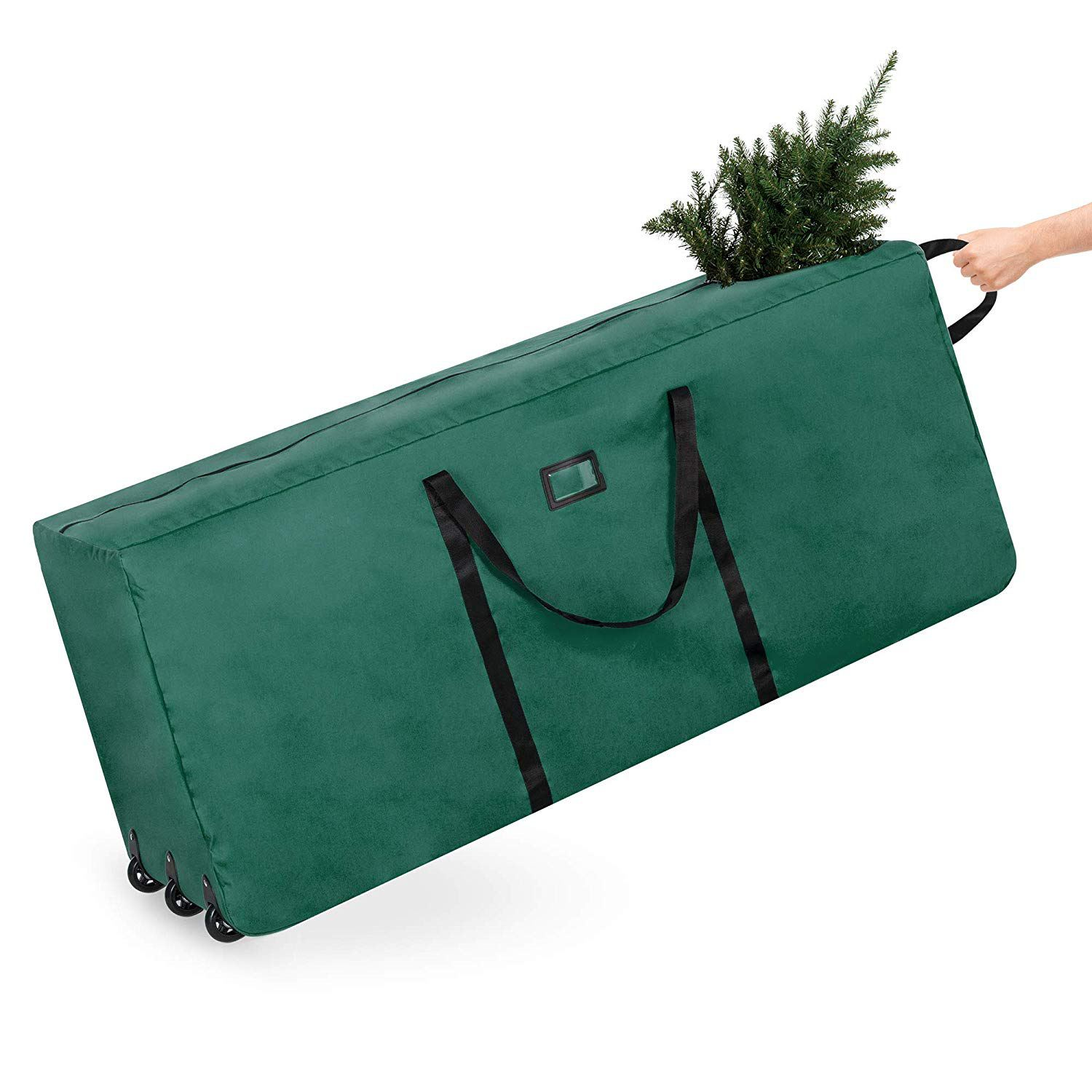 Best Choice Products Rolling Duffel Holiday Decoration Storage Bag