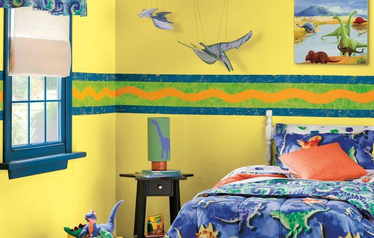 Habitación infantil amarillo brillante