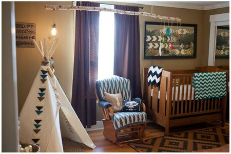 Rustic Tribal Themed Nursery