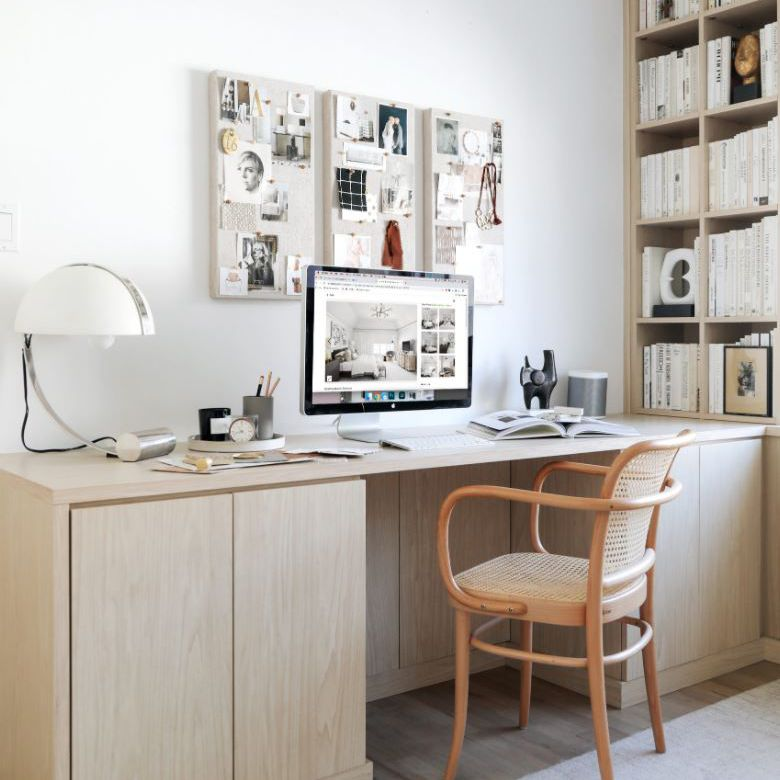 Home office with large desk