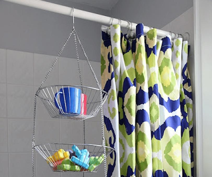 Bathroom fruit basket storage