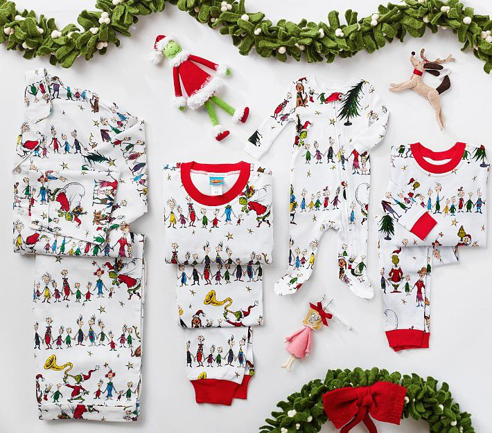 Pottery Barn Kids Dr. Seuss's The Grinch Family Pajama Collection