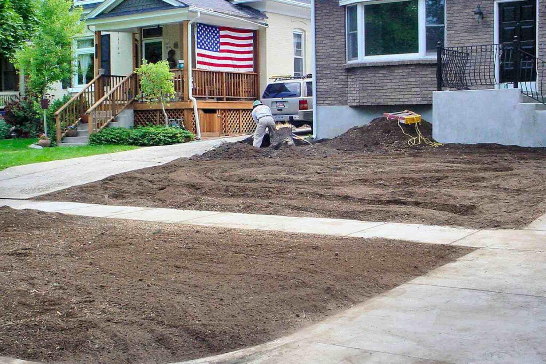 suelo del patio delantero