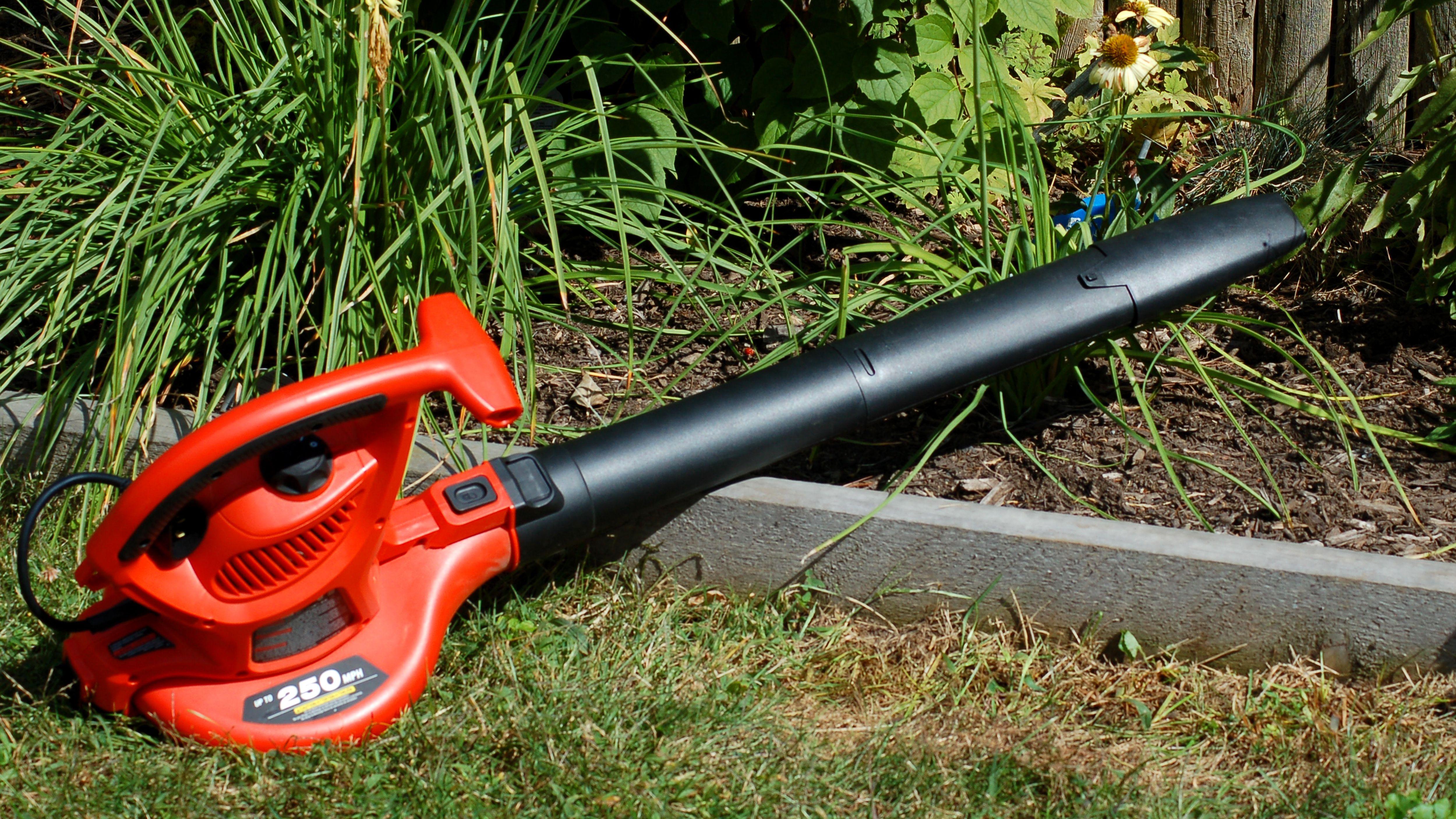 Leaf Blower Vacuum Mulcher Collector Sucker Electric Lawn Garden Tidying Wheels