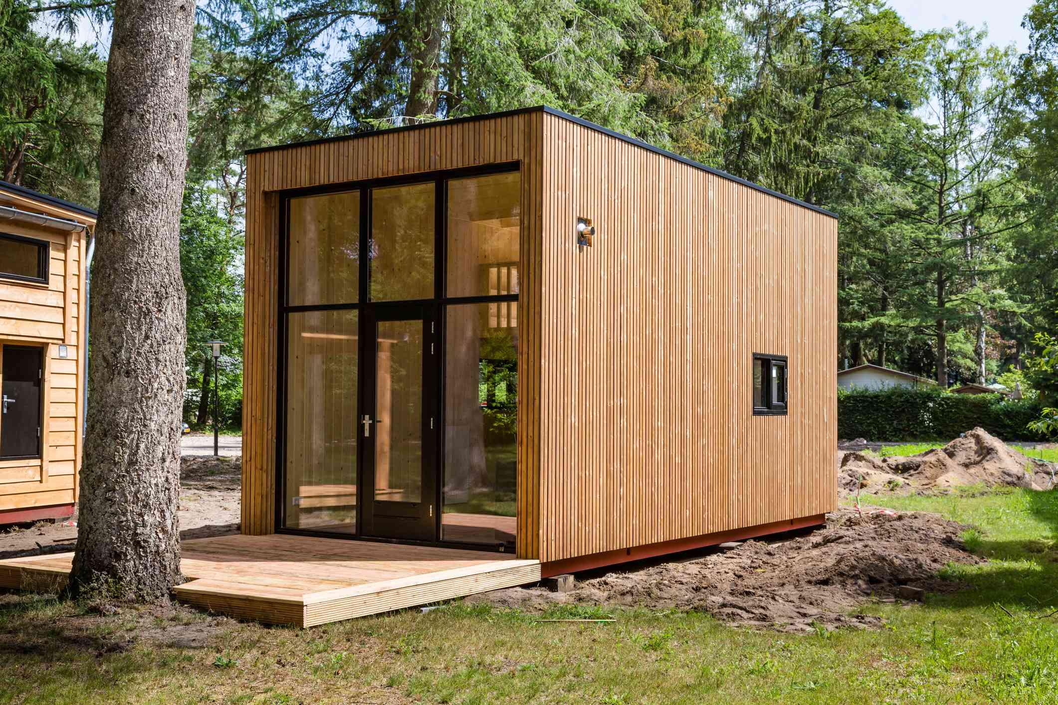Dutch wooden tiny house.