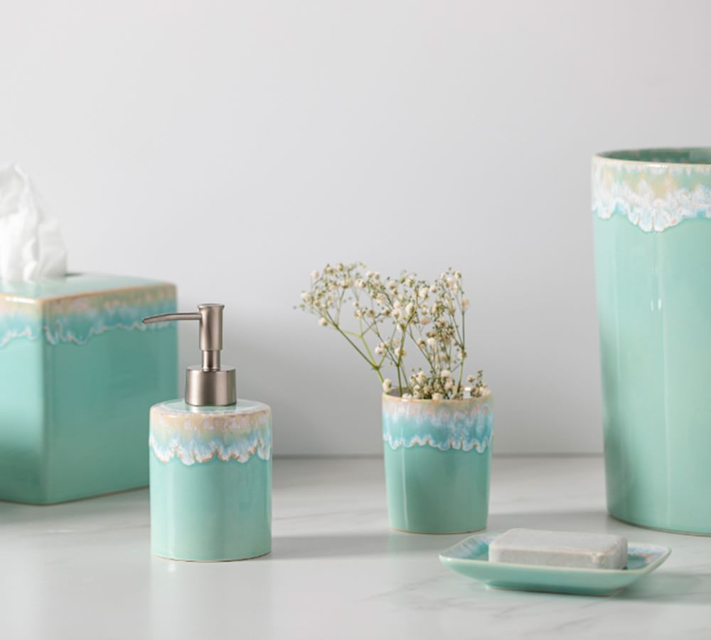 Pottery Barn Casafina Taormina Stoneware Bathroom Accessories
