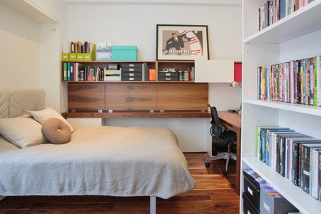 Folding Work Table In Nyc Apartment