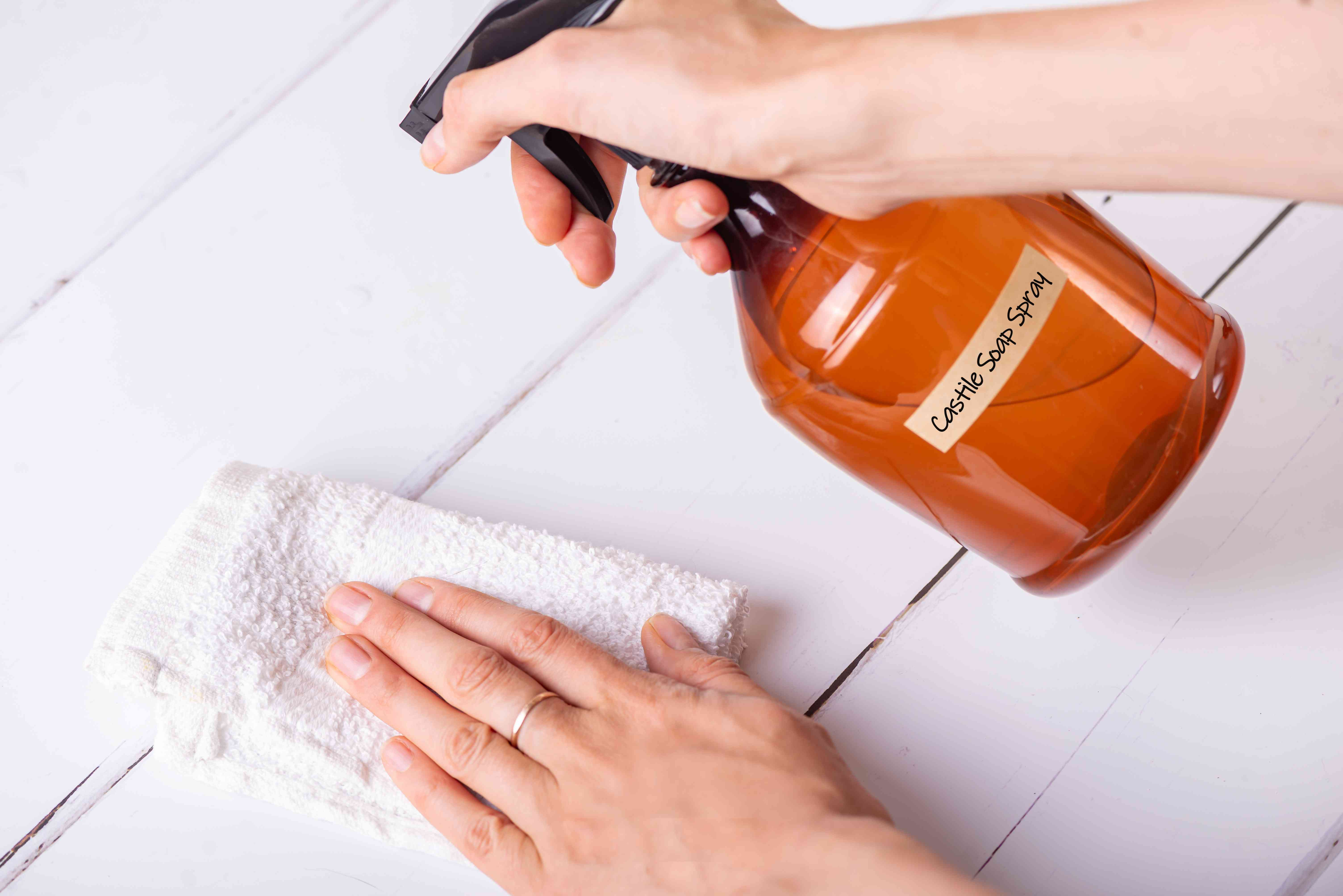 using homemade castile soap spray