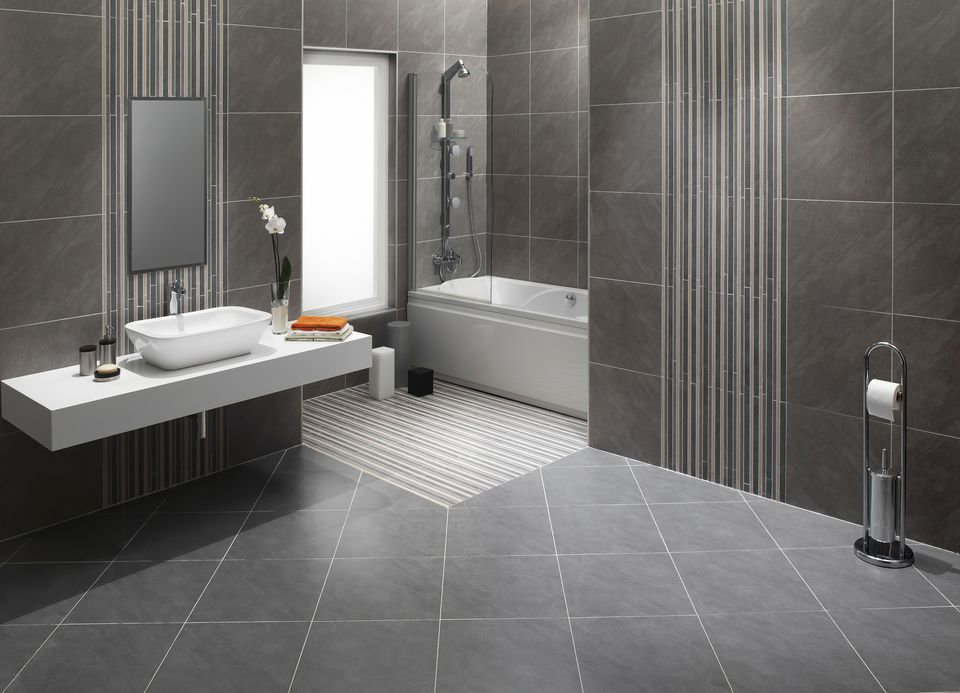 Bathroom diagonal tile