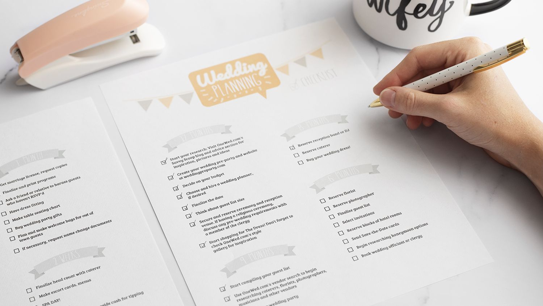11 Free Printable Wedding Planning Checklists
