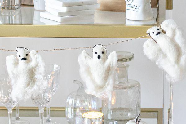 ghost felt garland