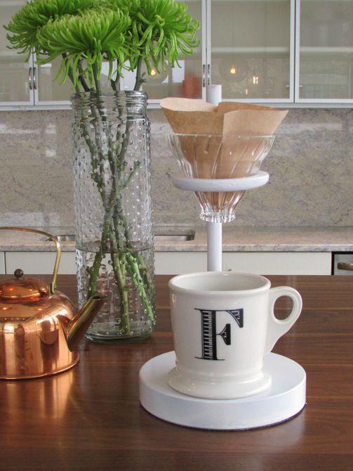 Soporte para café sobre bricolaje