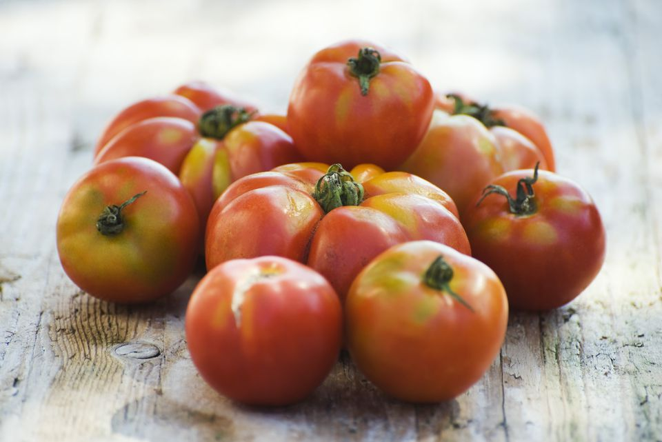 Pile of ripe tomatoes
