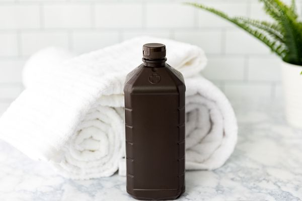 hydrogen peroxide and white towels