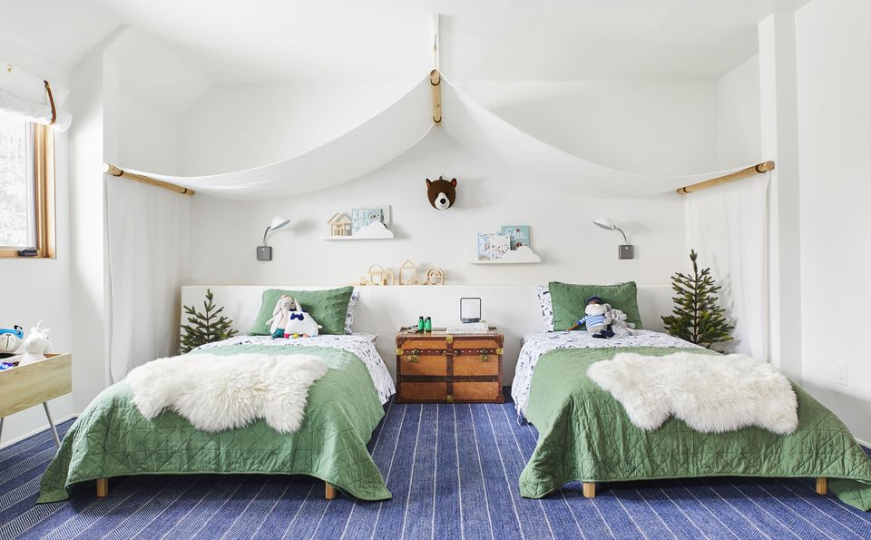 Camp themed bedroom for kids