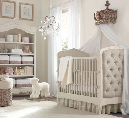 how to create a glamor girl nursery on a budget