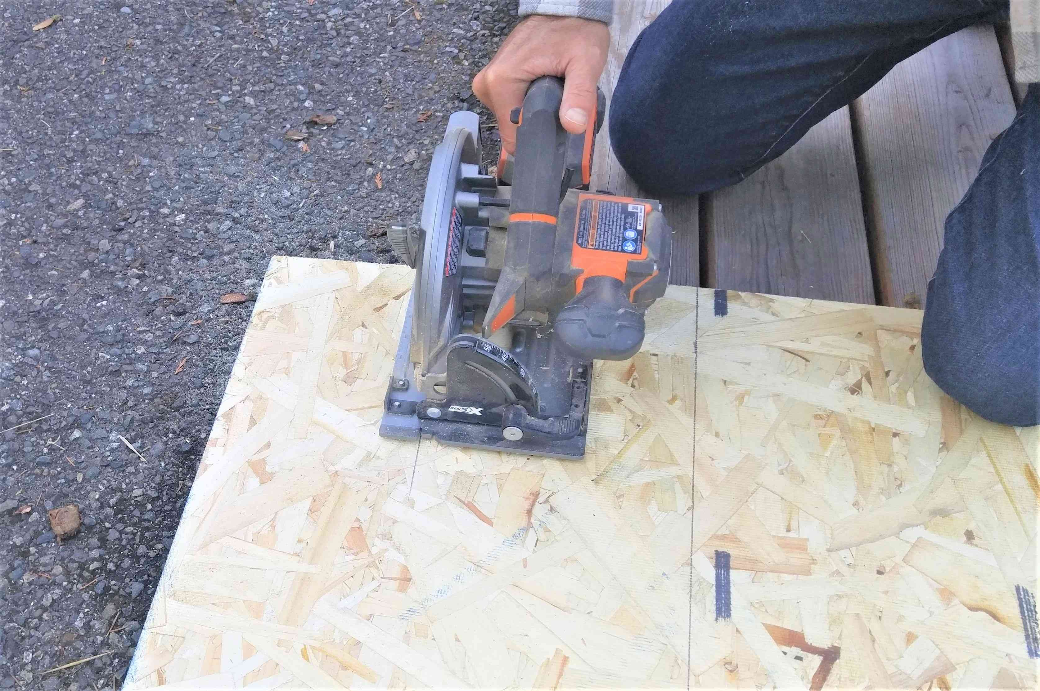 Cut Boards for Bench Seat