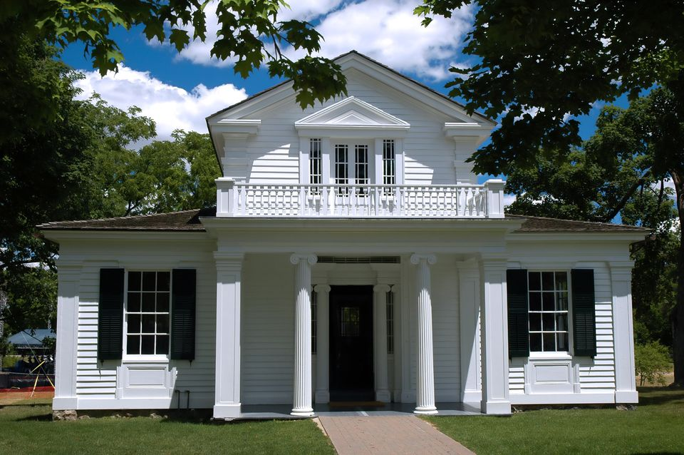 Greek Revival house in Greenfield Village, Michigan.