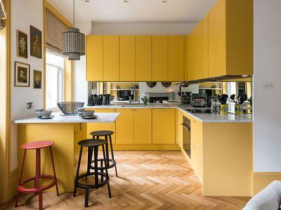 Danish yellow kitchen