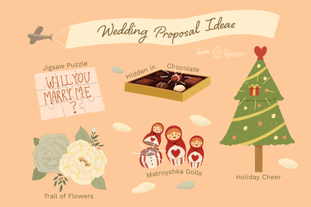 Ilration Of Unique Wedding Proposal Ideas