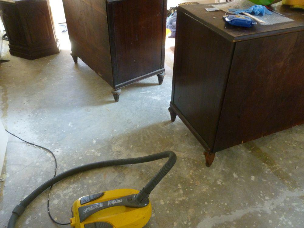 Cleaning subfloors