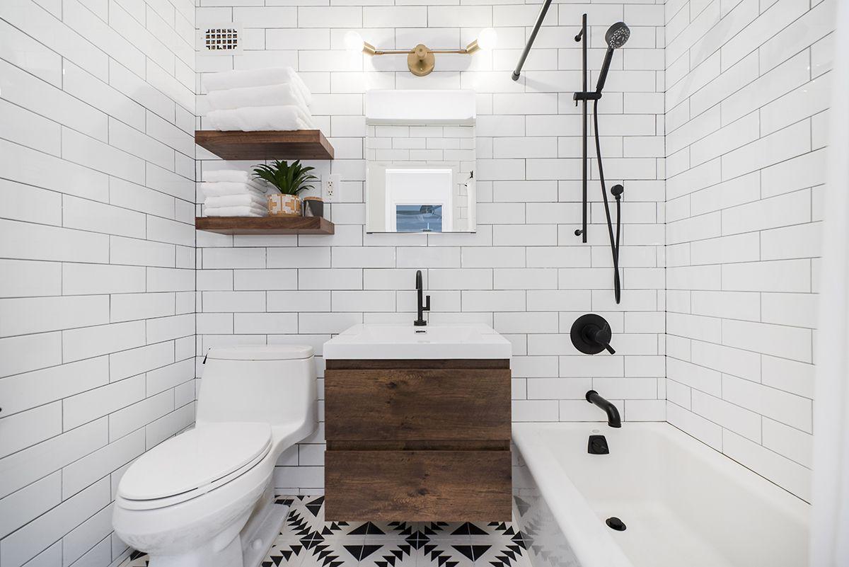 baño rústico moderno