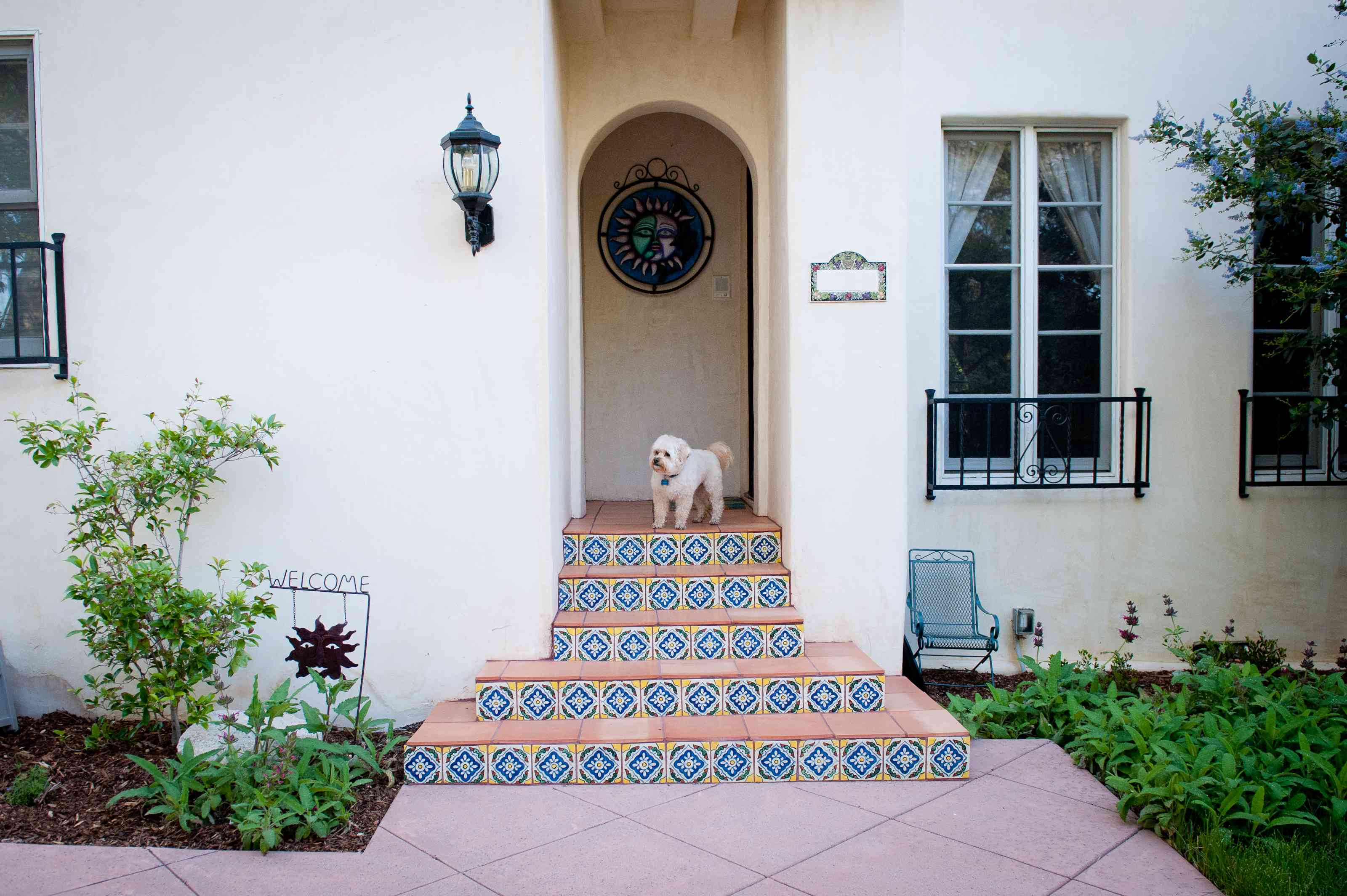 Entryway detail on Spanish Colonial house
