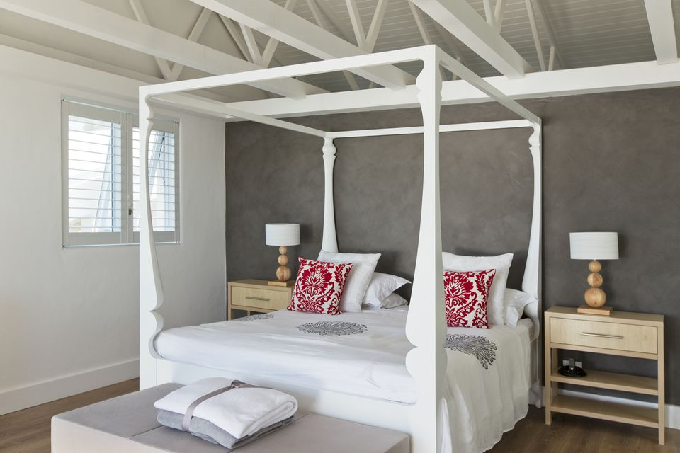 Canopy bed in luxury bedroom