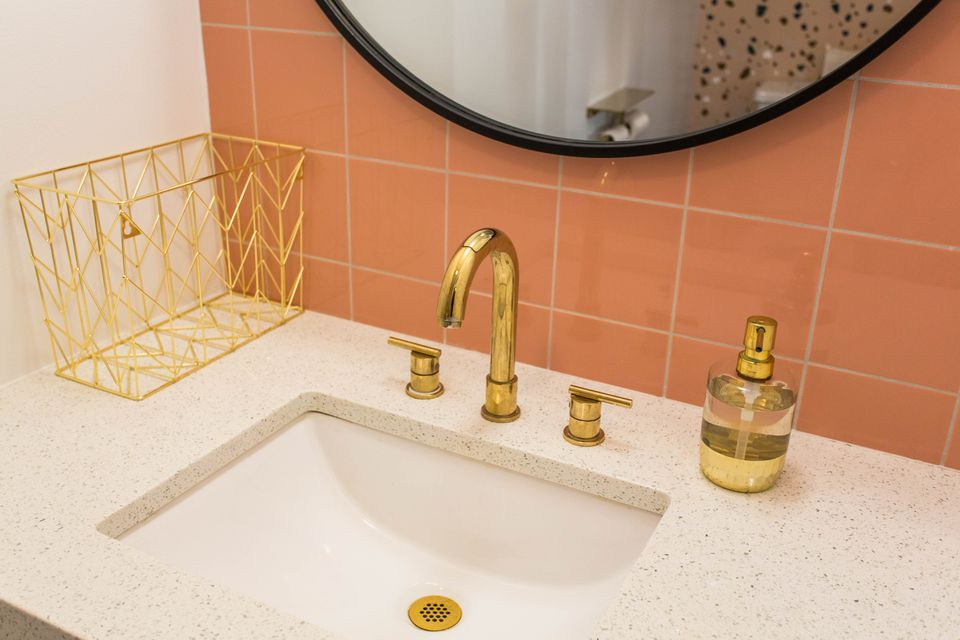 Bathroom with terrazzo sink