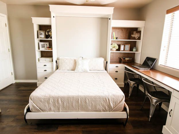 11 Money Saving Diy Murphy Bed Projects, Twin Size Deluxe Murphy Bed Kit