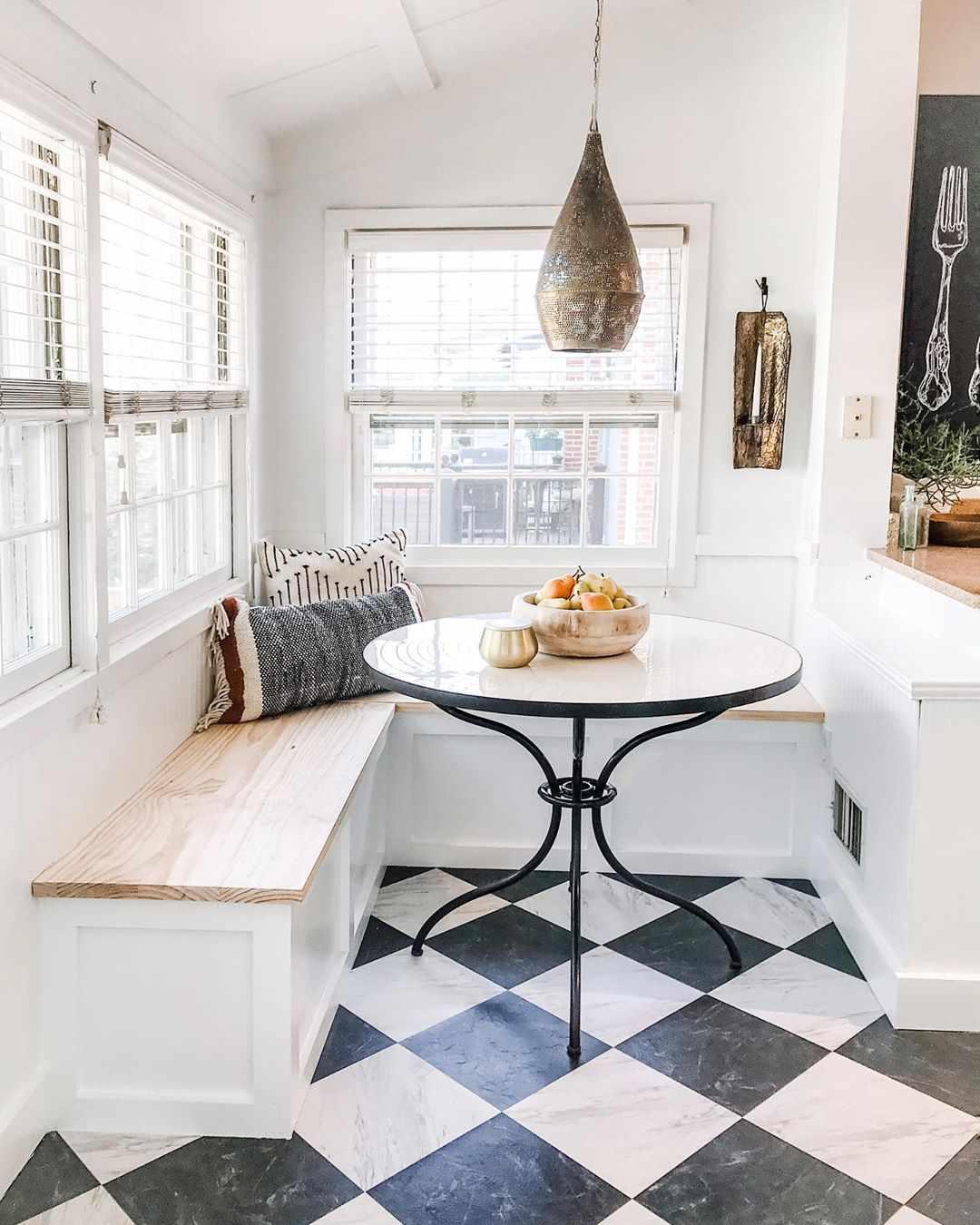 Breakfast nook in a kitchen