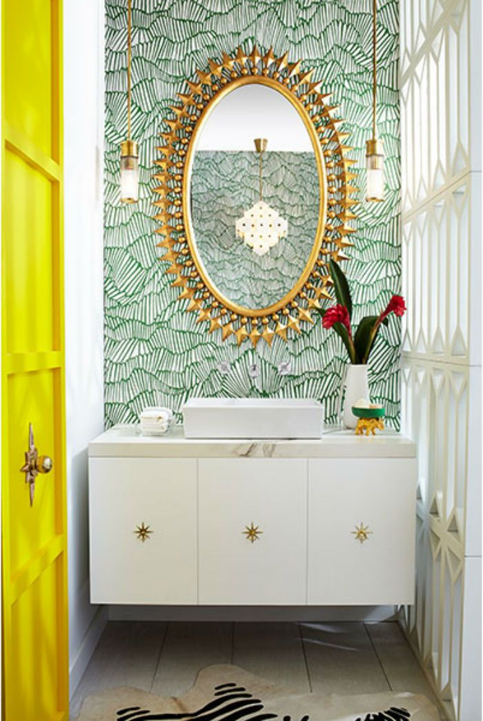funky bathroom wallpaper ideas 10 colorful powder rooms to inspire you 17807