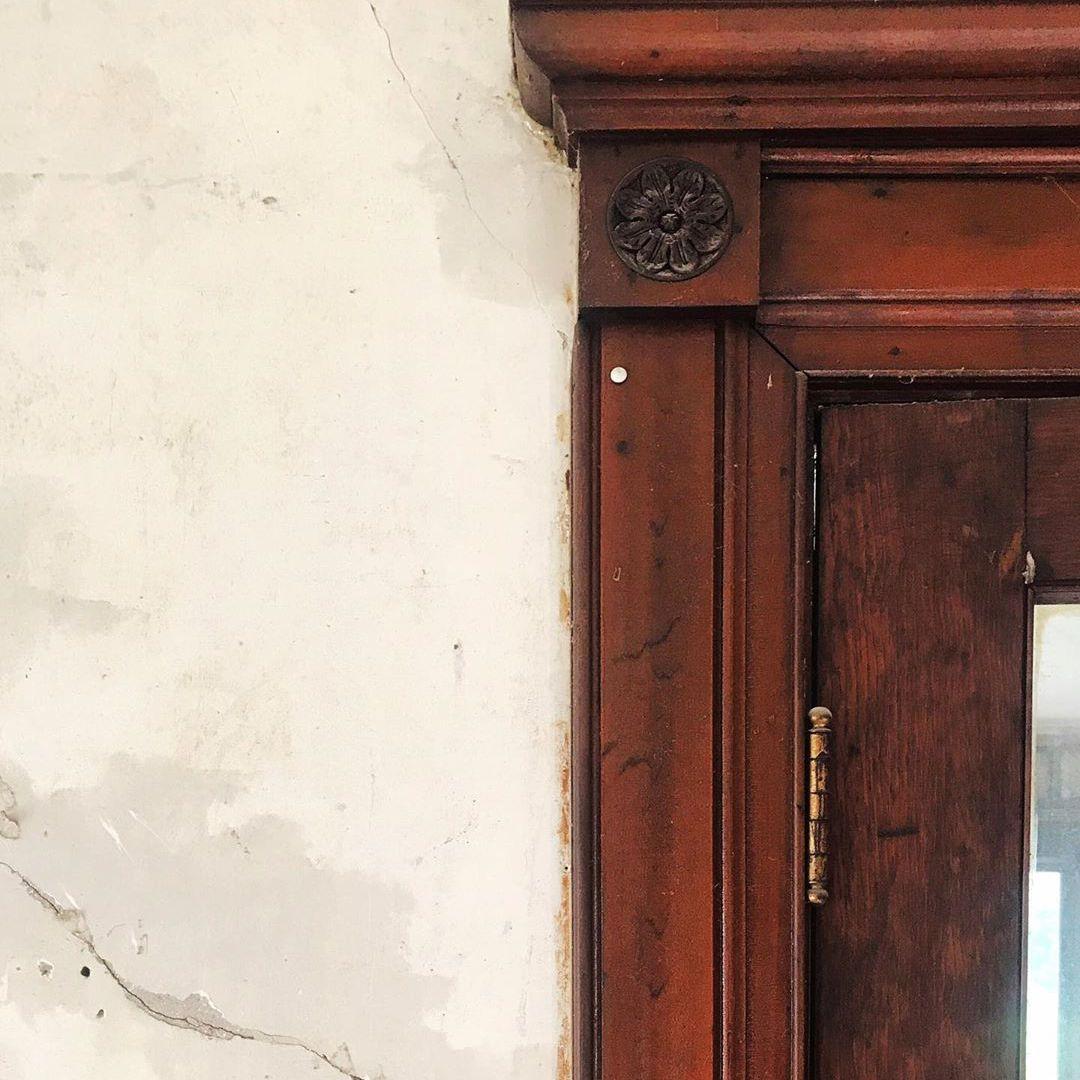 old antique door trim