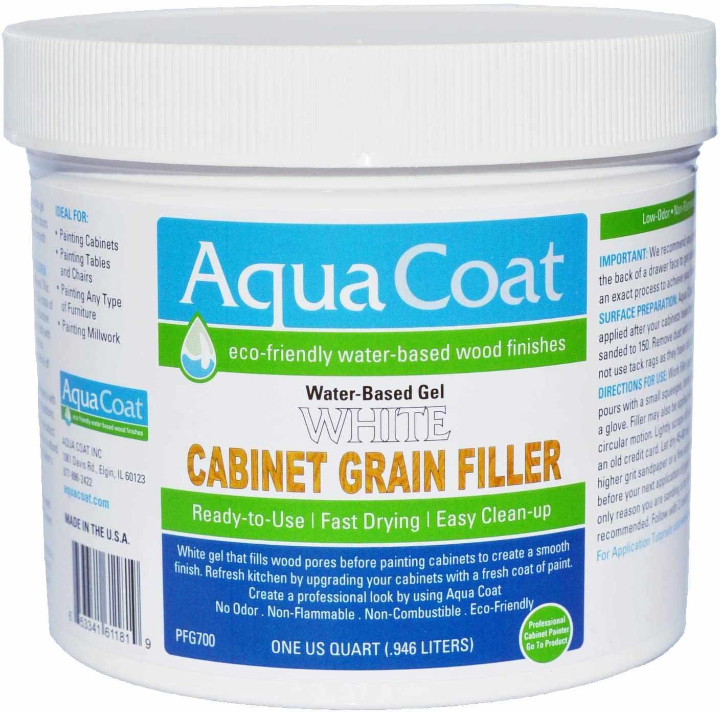 Aqua Coat Water-Based Gel Cabinet Grain Filler