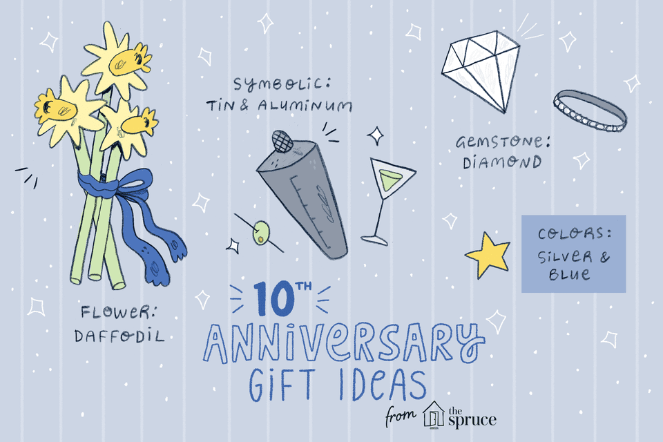10th Wedding Anniversary Gift For Him: 10-Year Wedding Anniversary Gift Ideas