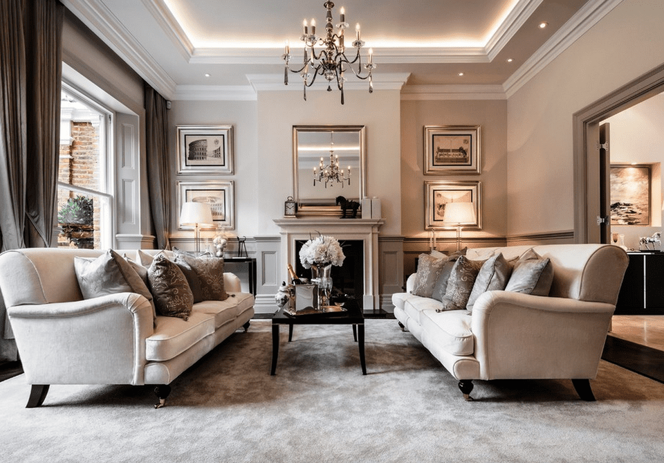 INDESIGNCLUB - Living Room interior design in elegant ...