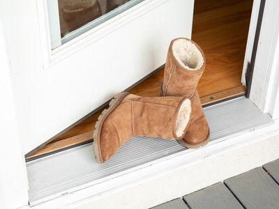 Tan Ugg boots in a doorway