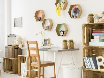 What will make the room feel more cosy? Wooden furniture!