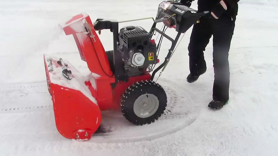Snow blower picture. If yours won't start up, read these troubleshooting tips from Ariens.