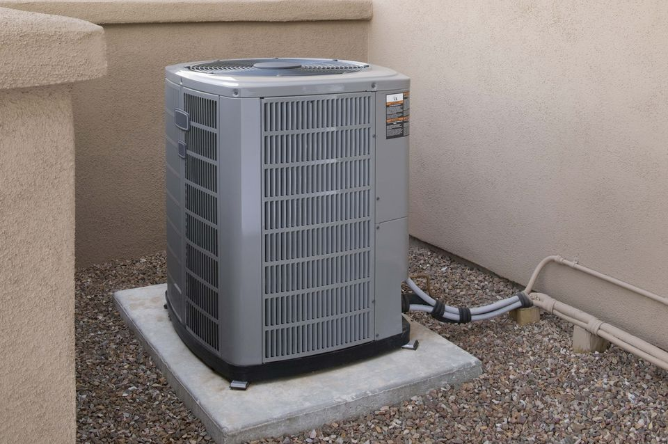 A central air conditioning unit