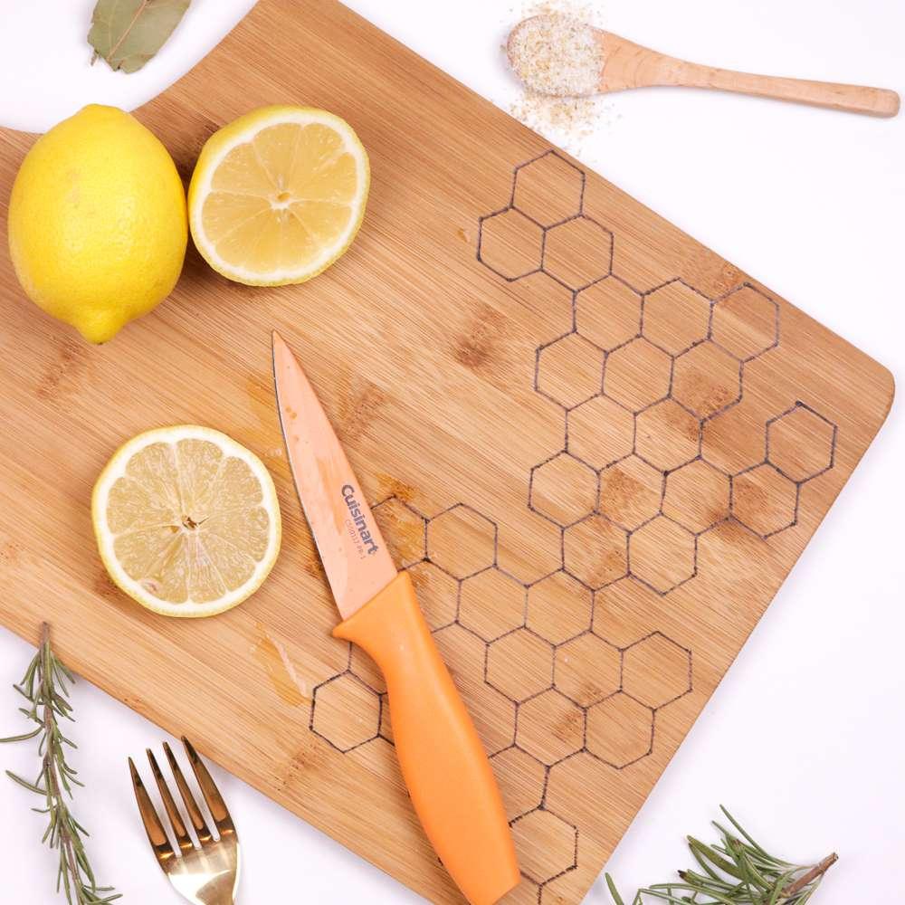 DIY Honeycomb Burnt Cutting Board